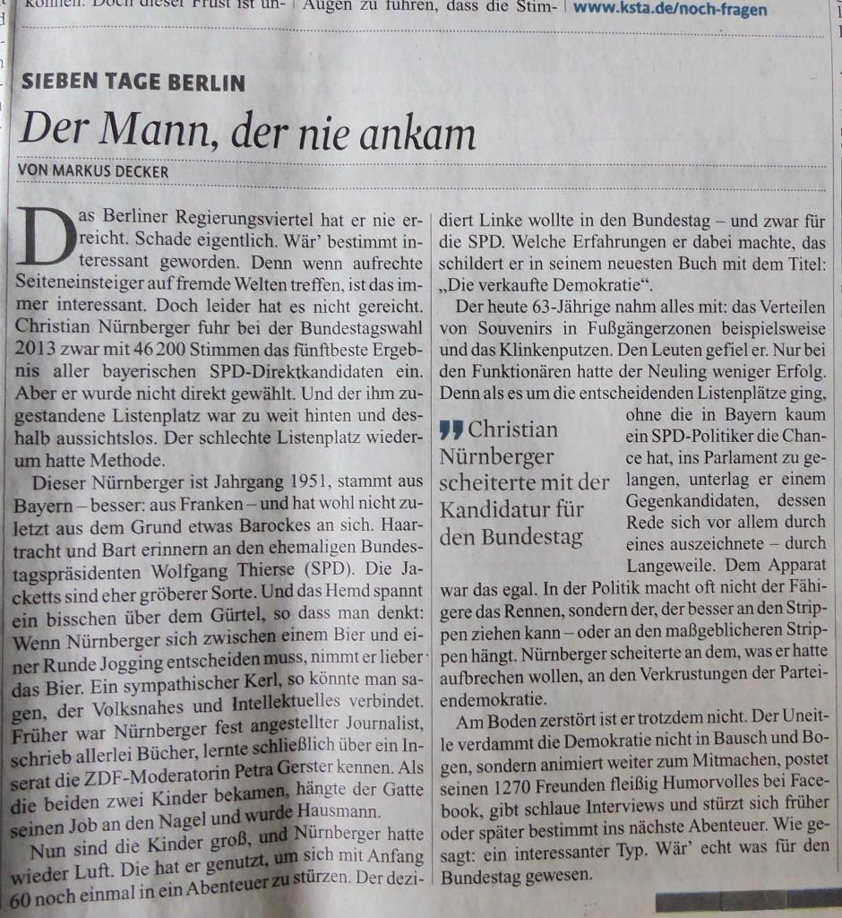 """""""Wär' echt was für den Bundestag gewesen."""""""